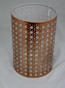 Modern Toronto Metal Tea- Light Candle Holder. Available in Copper or Black